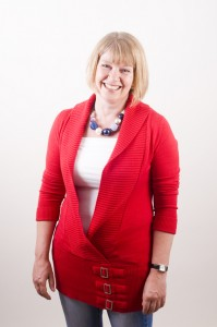 Gill, wearing red again!