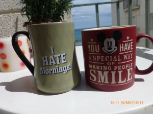 two mugs together belonging to two different people