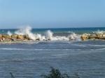 High breaking waves at Altea beach