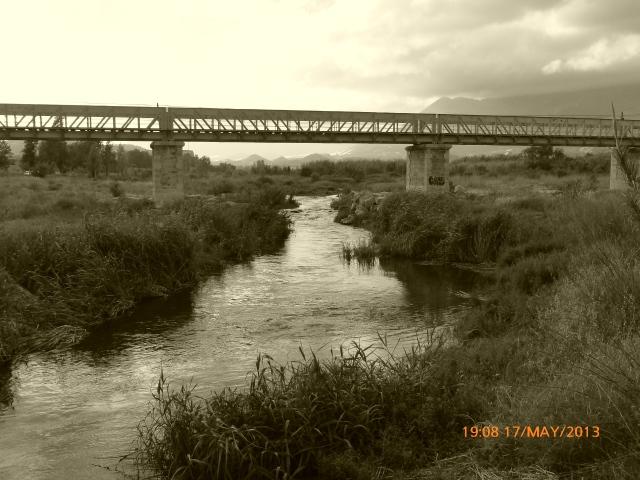 Further up the Riu de L'Algar is the railway bridge