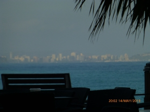 The appearance of Calpe at sunset time