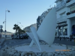 Seafront art in Altea at evening time