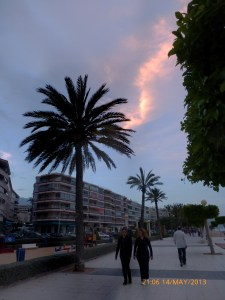 Amazing sky over Altea