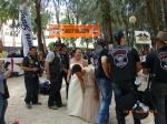 Wedding and a bride gatecrashes a Harley Davidson fun day!
