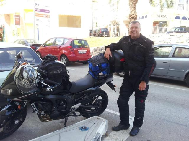 Russ from UK to Spain. Saddle sore and happy.