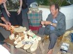 Moroccan shoe maker