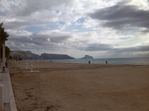 Beach towards Altea