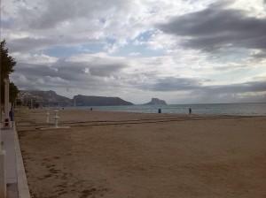 Beach towards Altea