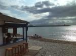 Chiringuito - beach hut on the little beach at Altea Marina