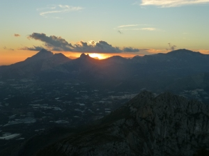 Sunset from Mount Bernia