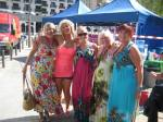 Meeting people with a passion for life as we wait for the call on set for the TV show Benidorm.
