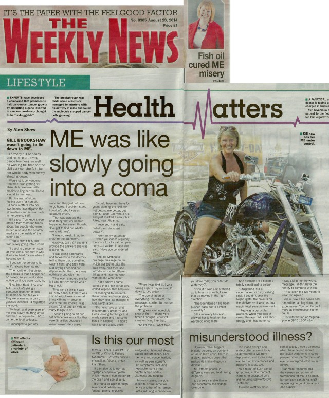 The Weekly News 23.08.14 Gill Brookshaw