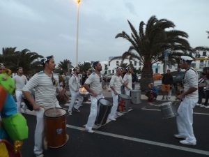The bands march on Lanzarote Carnival