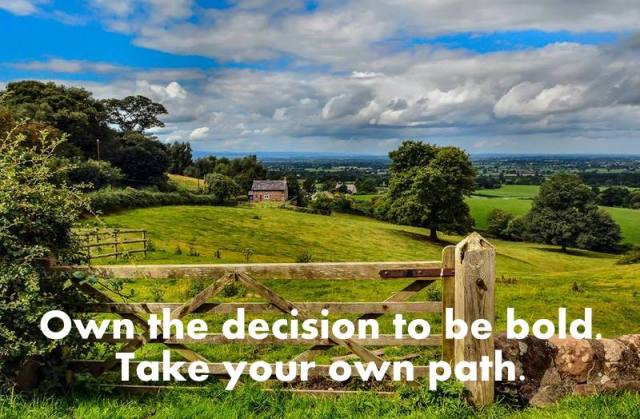 Own the decision