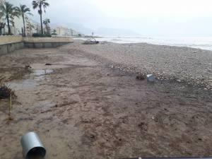 Beach swept away