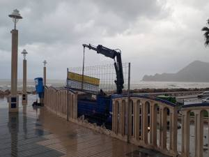 Waterfront sign being rescued