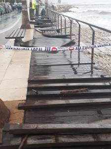 Torn up boardwalk