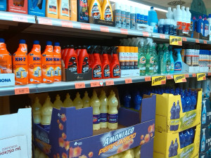 Selection of cleaning products